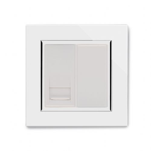 RetroTouch Single BT Slave Socket White Glass CT 04086